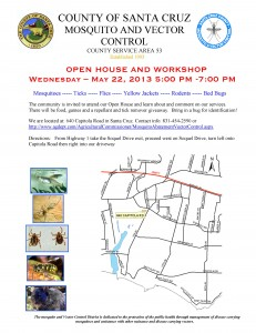 Santa Cruz County Mosquito and Vector Control Open House @ Agricultural Commissioner office