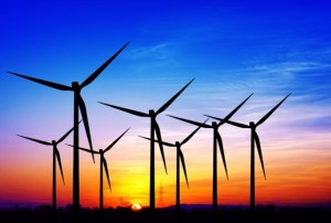 wind-power-sunset