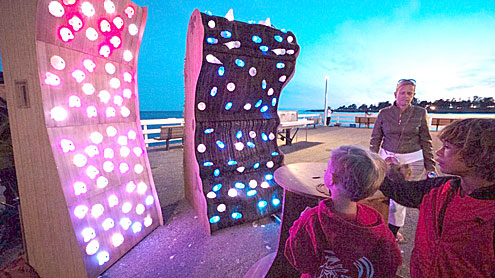 creativelife_glowing-climbing-wall Leslie Thompson Times Publishing Group Inc tpgonlinedaily.com