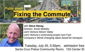 Fixing the Commute: Campaign for Sensible Transportation @ City of Santa Cruz Police Community Room