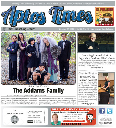 Aptos Times Mid-October 2018 Times Publishing Group Inc tpgonlinedaily.com